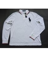 Polo Ralph Lauren Shirt L White Big Pony Long Sleeves Cotton Mesh NWT - $59.95
