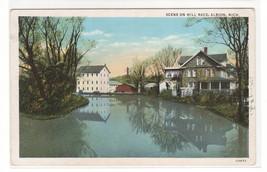 Mill Race Albion Michigan 1920c postcard - $5.94