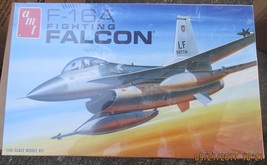 AMT F-16A Fighting Falcon 1/48 scale - $17.99