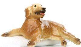 Hagen Renaker Miniature Dog Golden Retriever Lying Ceramic Figurine image 3