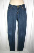 "ROCAWEAR Sz Jr 7 Blue Stretch Denim Slim Leg Skinny Jeans 33"" Inseam - $10.13"