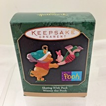 1999 Skating w Pooh  Mini Hallmark Christmas Tree Ornament MIB w No Pric... - $9.41
