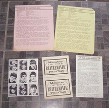 The Beatles Fan Club Lot Wallet Pics Bulletin Bios + 1964 - $32.99