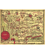 Early Pictorial Map of Montana Wall Art Poster Print Decor Vintage History - $12.87 - $26.73