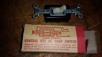 ONE 2HP 240V 1/2 HP 120V ELECTRIC MOTOR STARTER SWITCH 3 way nos USA