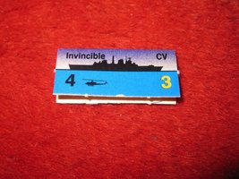 1988 The Hunt for Red October Board Game Piece: Invincible Blue Ship Tab- NATO  - $1.00