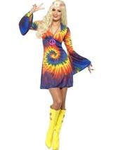 Smiffys 1960's Cravatta Tintura Hippie 60s Culture Adulto Donna Halloween - $29.29