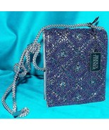 Bijoux Terner Bugle Beaded Gunmetal Box Crossbody Clutch Purse Evening P... - $36.99