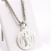 Venetian Chain 50 CM, MEDAL ST. BENEDICT, CROSS, SILVER 925 necklace image 9