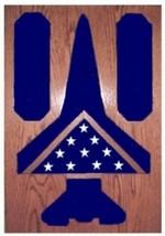 Air Force Lockheed F-117 Nighthawk Award Wood Shadow Box Medal Display Case - $360.99