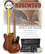 "Indy Custom Deluxe Rosewood Solid Body Electric Guitar ""T"" style - $399.00"