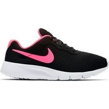 Nike Tanjun (GS) Black Hyper Pink White Youth Kids Running Shoes 818384 061 - $44.95