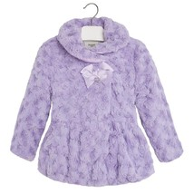 Mayoral Little Girls 2T-9 Bonaz Rosette Faux Fur Coat/Jacket