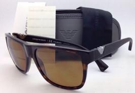 Nuovo Polarizzato Emporio Armani Occhiali da Sole EA 4035 5026/83 Havana