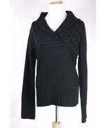 Junior's Sweater Project - V-neck Sweater - Black - Size L - $11.63