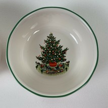 Pfaltzgraff Christmas Heritage 2 Cereal Bowls White with Christmas Tree USA - $22.99
