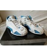 NOS 2006 Nike Air Jordan XXI Low White University Blue 313530-142 Youth 4.5 - $218.45