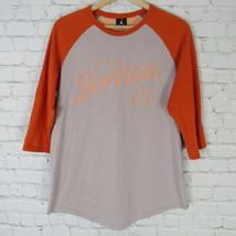 Jordan T-Shirt T.L pour Homme L Orange Gris Basketball Raglan - $40.35