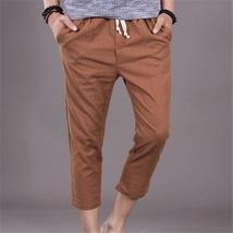 The new summer mens pants men loose linen pants casual pants image 6
