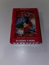 Walt Disney World Playing Cards, Four Parks One World Tinkerbell Joker - $38.56