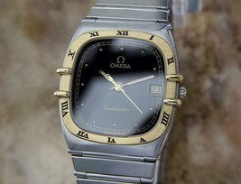 Omega Constellation 18k & Stainless Steel Unisex 30mm Swiss Dress Watch YY39 - $1,936.19