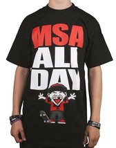 Famous Stars & Straps Mens Black Red All Day Manny Santiago MSA T-Shirt NWT
