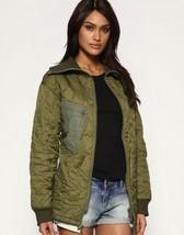 Vintage Women's German army quilted jacket coat surplus army military la... - $22.00+
