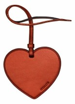 COACH Bag Luggage Charm Boxed Heart Ornamental, Metallic Brick Orange - $18.81