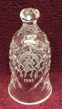 "Waterford 1993 10 Lords Leaping Twelve Days of Christmas Crystal Bell 5""... - $64.35"