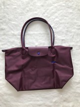 France Longchamp Le Pliage Club Collection Horse Embroidery Large Tote Plum - $99.00