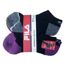 FILA Women's 6 Pack Low Cut Classic Sport Athletic Gym Moisture Control Socks image 4