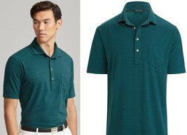 Ralph Lauren Polo Golf Active Fit Stretch Lisle Polo  Green  Med - $49.49