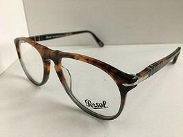 New Persol Tortoise Fuocco e Ardesia 50mm  Eyeglasses Frame Italy  - $129.99