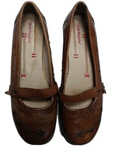 Hush Puppies Size 9 Women's Shoes Mary Jane Leather Flats Slip Slide On - $25.00