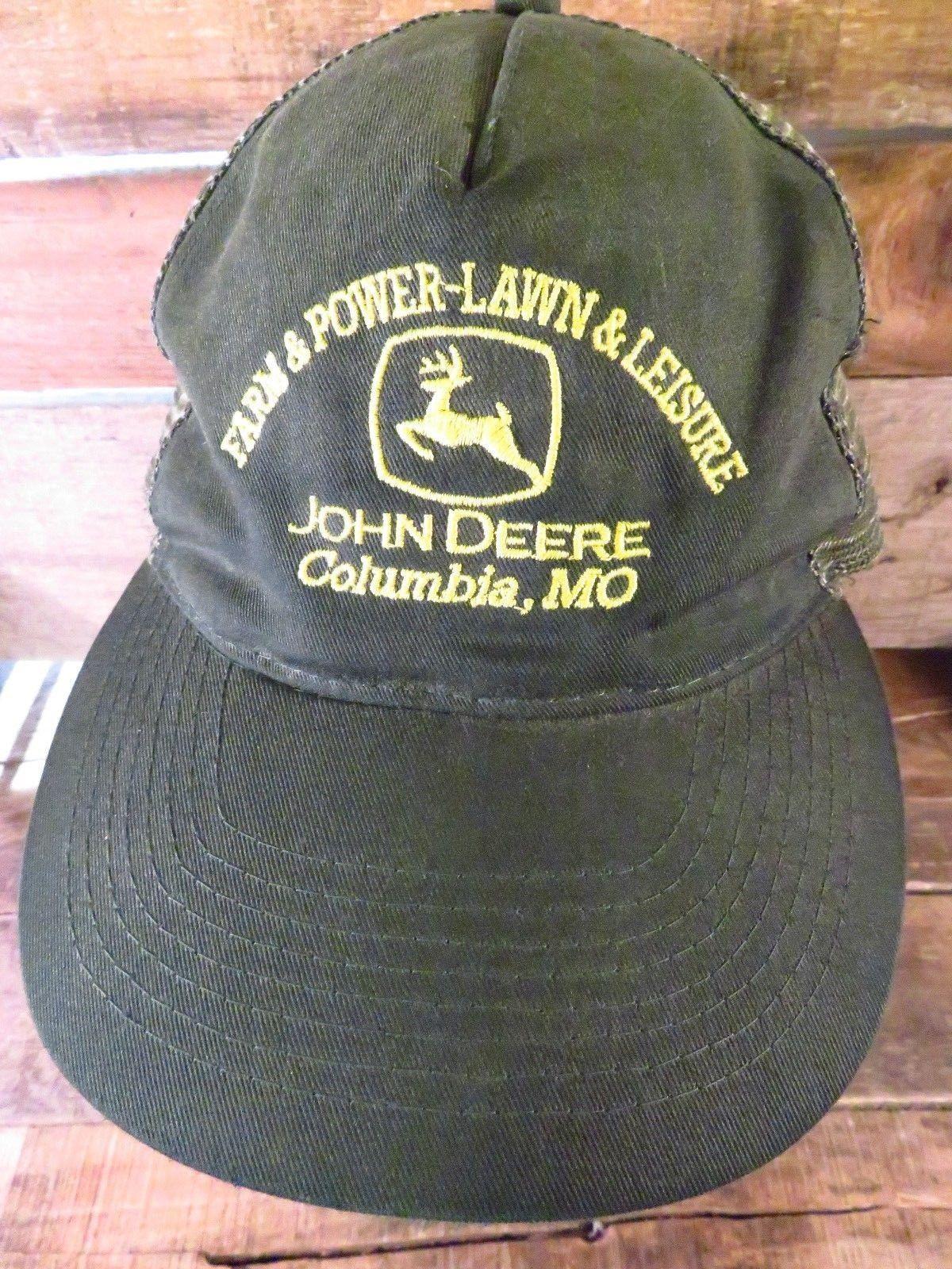 7eaa117b3c701 JOHN DEERE Columbia MO Farm Power Lawn Leisure Adjustable Adult Hat Cap
