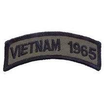 VIETNAM 1965 OD SUBDUED SHOULDER ROCKER TAB EMBROIDERED MILITARY PATCH - $13.53