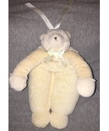 "13"" Bunnies By The Bay Ivory Musical Plush Bear Crib Toy Brahms Lullaby ... - $13.85"