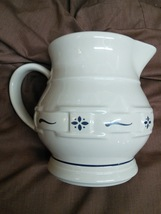 Longaberger Pottery Woven Traditions Classic Blue 32 oz. Pitcher - $35.00