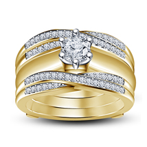 14K Gold FN White Cz Engagement & Wedding Bridal Wrap Ring Set & Free Shipping - $177.95