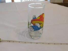 Lazy Smurf Wallace Berry & Co Juice Soda Glass very good condition Pre-o... - $16.02