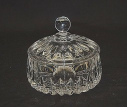 Althea Cut by Gorham Lead Crystal Candy Box w Lid Vertical Cuts on Bowl ... - $49.49