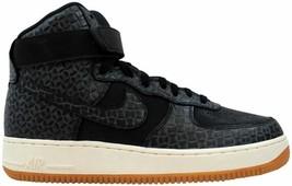 Nike Air Force 1 Hi Premium Black/Black-Gum Medium Brown-Sail 654440-009 Size 11 - $110.00