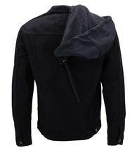 Boy's Kids Classic Button Up Removable Hood Slim Fit Stretch Denim Jean Jacket image 4