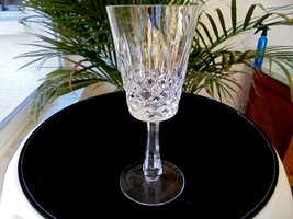 "Set of 3 Top Quality Cut Crystal 7 3/8"" Tall Claret Wine Goblets - $33.65"