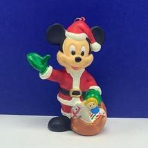 Walt Disney Merry Christmas ornament holiday figurine Mickey Mouse santa... - $16.78
