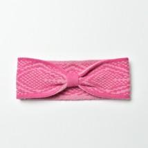 Pink Diamond Design Knitted Bowtie Headband for Fall & Winter - $13.09