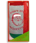 HUE 2-pack Footsie Socks Gift Box Gray Don't Stop Believin - $9.79
