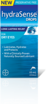Hydrasense Gel Drops for Dry Eyes 2 Bottles 10ml each Canadian  - $59.99