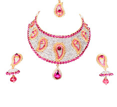 Zicsy Unique Fashion Jewellery CZ Necklace Set With Maangtikka BON93 - $42.00