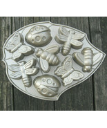 Nordic Ware Cake Mold Insects Butterfly Ladybug Backyard Bugs Muffin Pan USA - $35.00